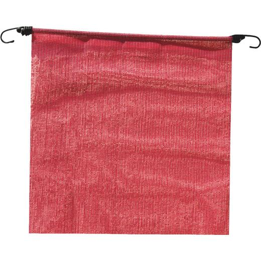 Erickson 18 In. x 18 In. Fluorescent Red Polyester Mesh Caution Flag
