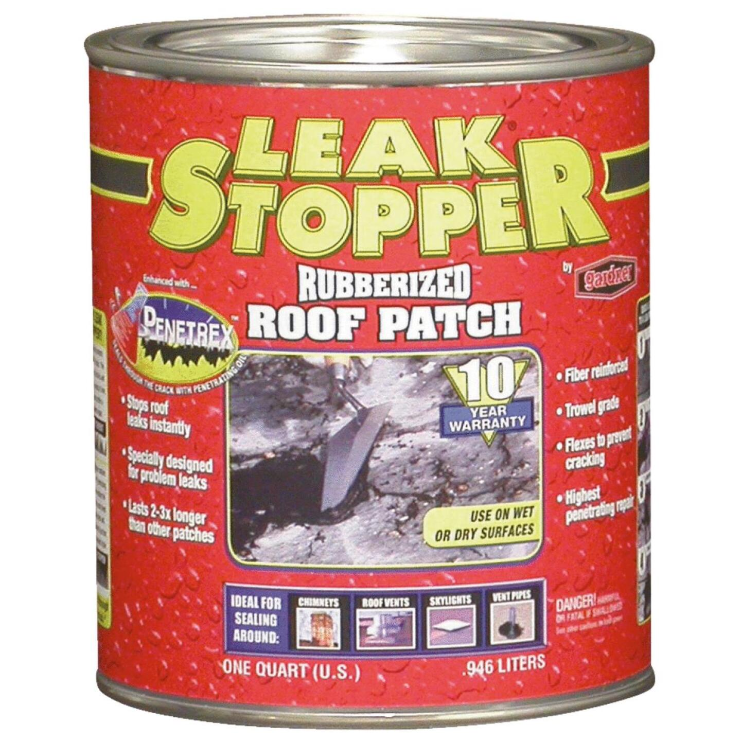 Black Jack Leak Stopper 1 Qt. Rubberized Roof Patch Image 1