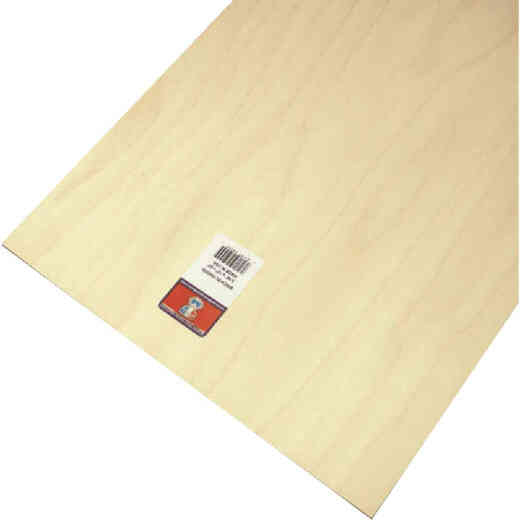 Midwest Products 3/16 In. x 12 In. x 24 In. Birch Plywood