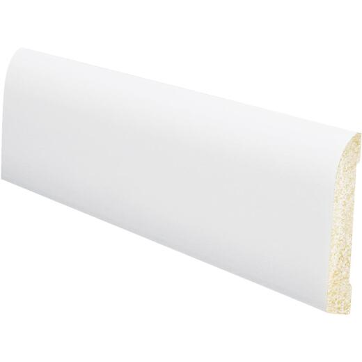 Inteplast Building Products 7/16 In. W. x 3-3/16 In. H. x 8 Ft. L. Crystal White Polystyrene Ranch Base Molding