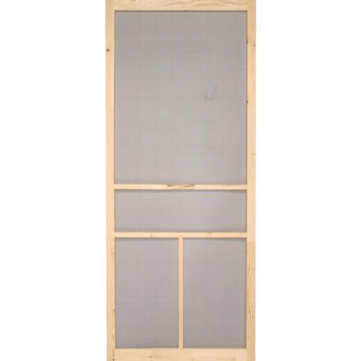 Snavely Kimberly Bay 30 In. W x 80 In. H x 1 In. Thick Natural Fingerjoint Pine Wood T-Bar Screen Door