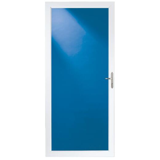 Larson Classic 36 In. W x 80 In. H x 1-1/4 In. Thick White Full View Aluminum Storm Door