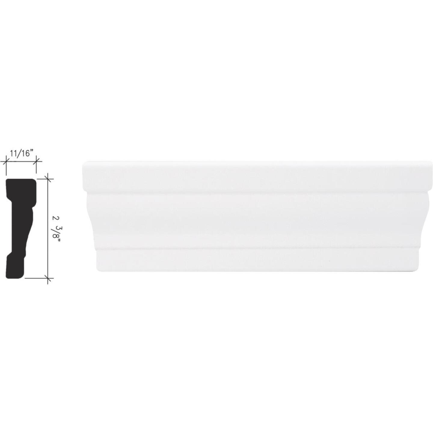 Inteplast Building Products 11/16 In. W. x 2-3/8 In. H. x 7 Ft. L. Crystal White Polystyrene Colonial Casing Image 1