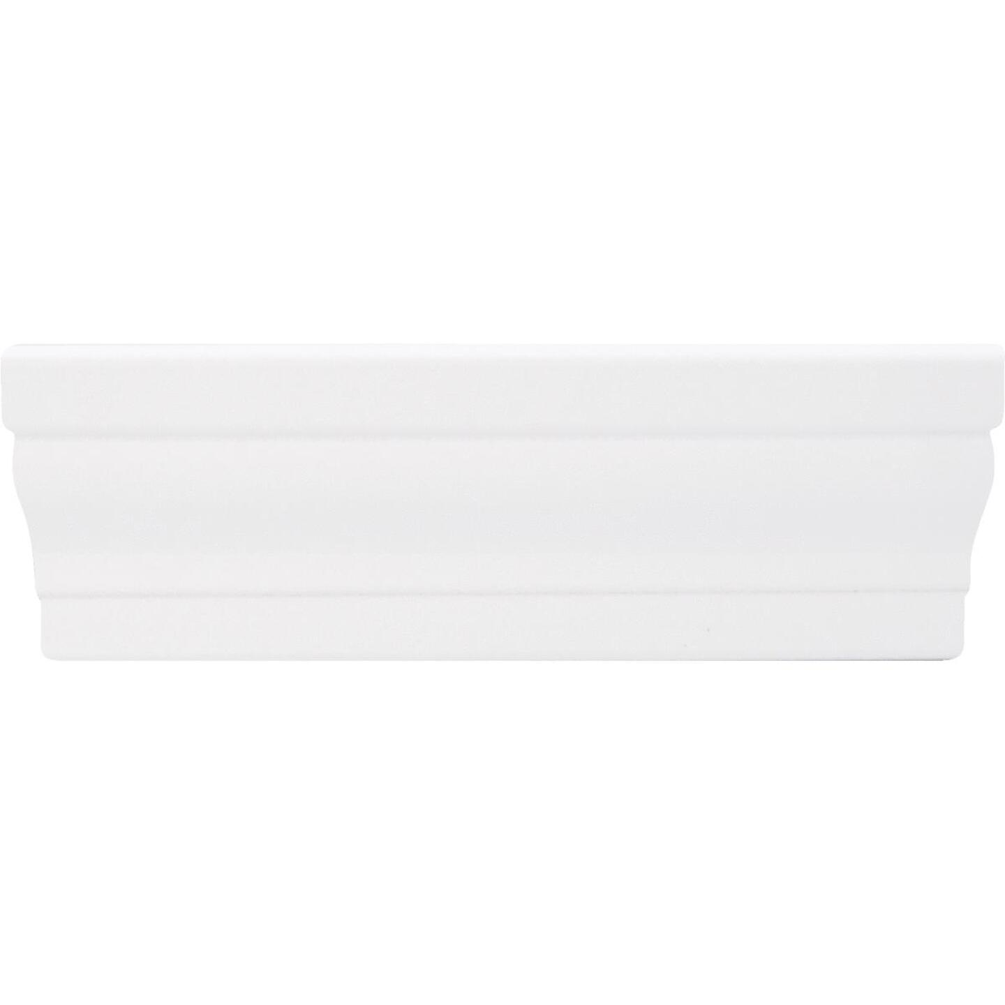 Inteplast Building Products 11/16 In. W. x 2-3/8 In. H. x 7 Ft. L. Crystal White Polystyrene Colonial Casing Image 3