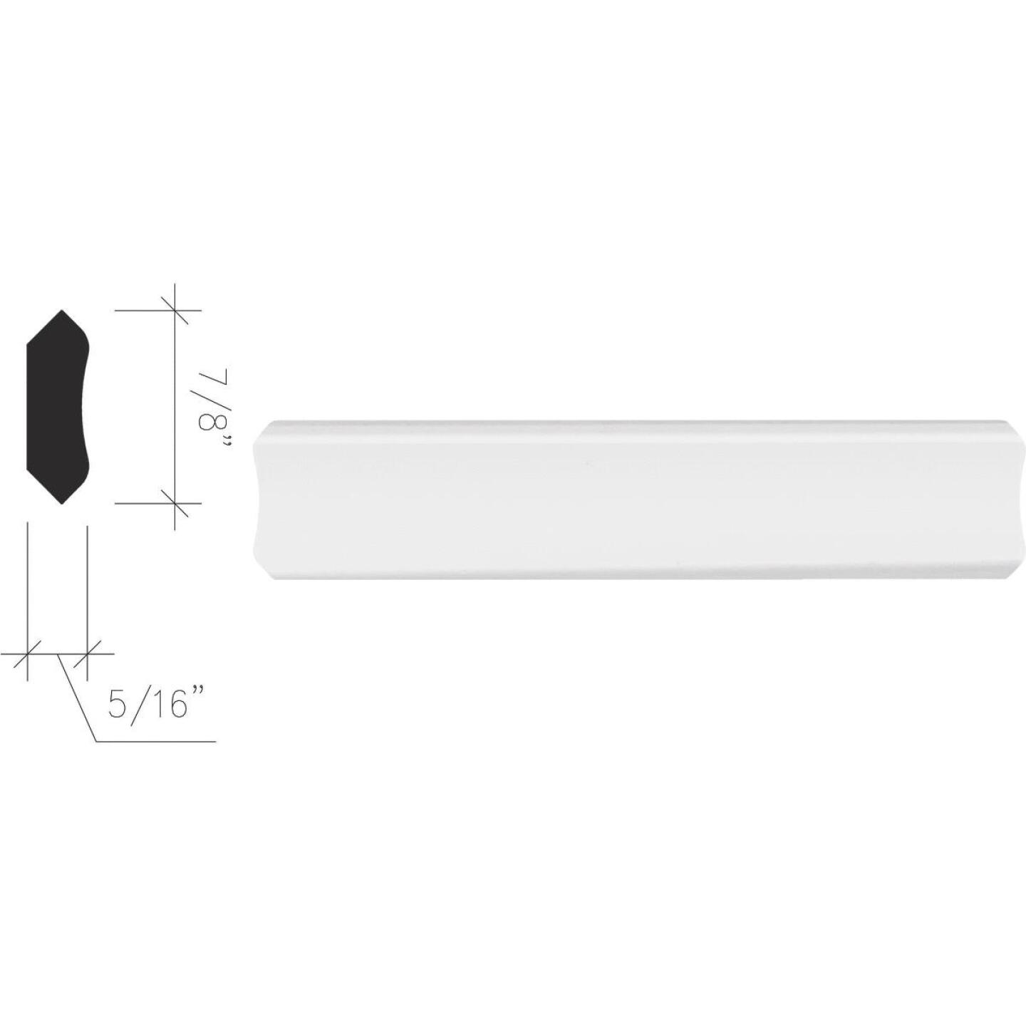 Inteplast Building Products 5/16 In. x 7/8 In. x 8 Ft. Crystal White Polystyrene Inside Corner Molding Image 1