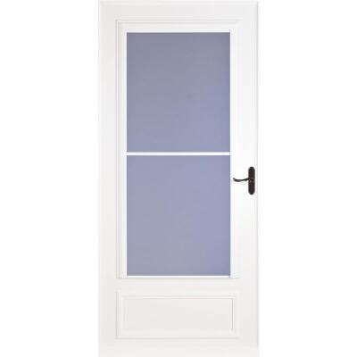Larson Screenaway Lifestyle 36 In. W x 81 In. H x 1 In. Thick White Mid View DuraTech Storm Door