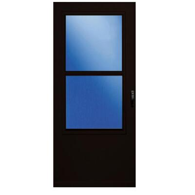 Larson Value-Core 36 In. W x 80 In. H x 1 In. Thick Brown Self-Storing Aluminum Storm Door