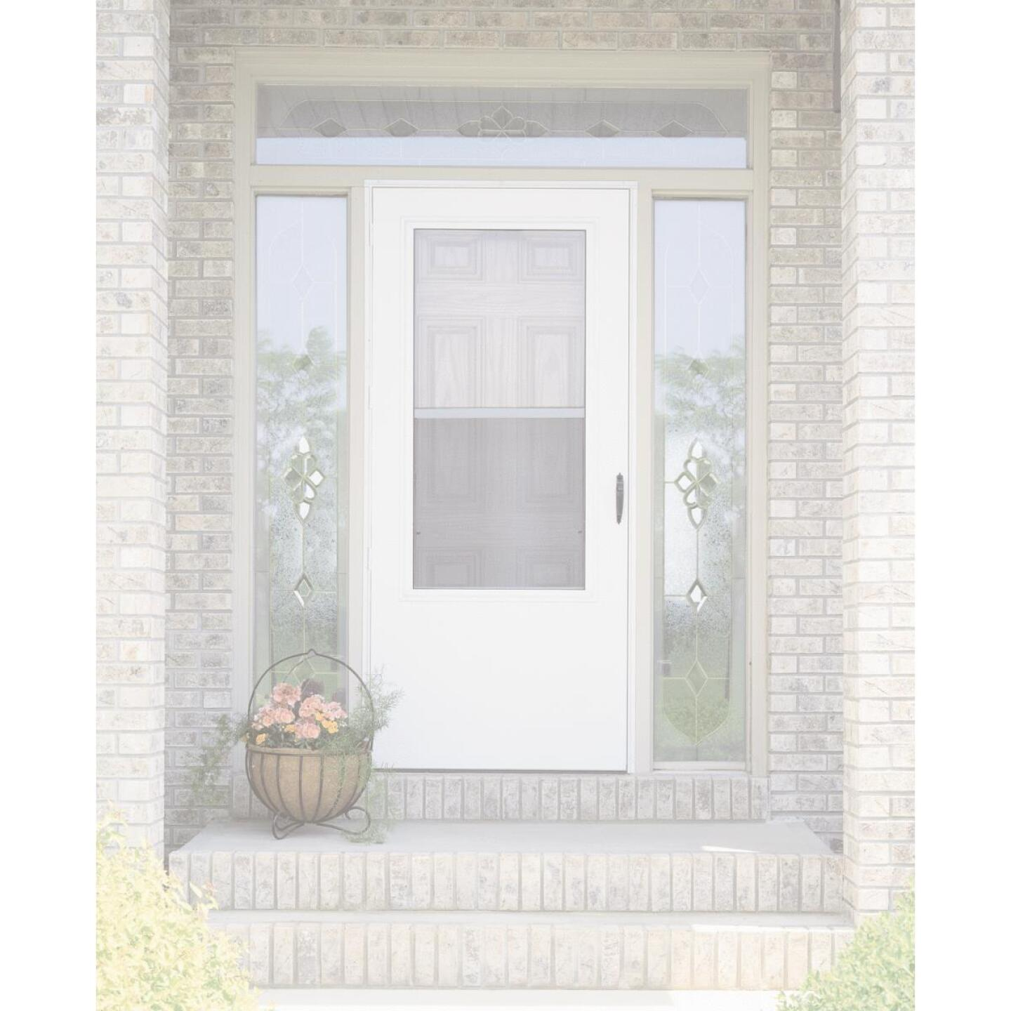 Larson Lifestyle MULTI-VENT 32 In. W x 80 In. H x 1 In. Thick White Mid View DuraTech Storm Door Image 2