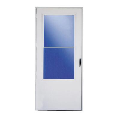 Larson Lifestyle MULTI-VENT 36 In. W x 80 In. H x 1 In. Thick White Mid View DuraTech Storm Door