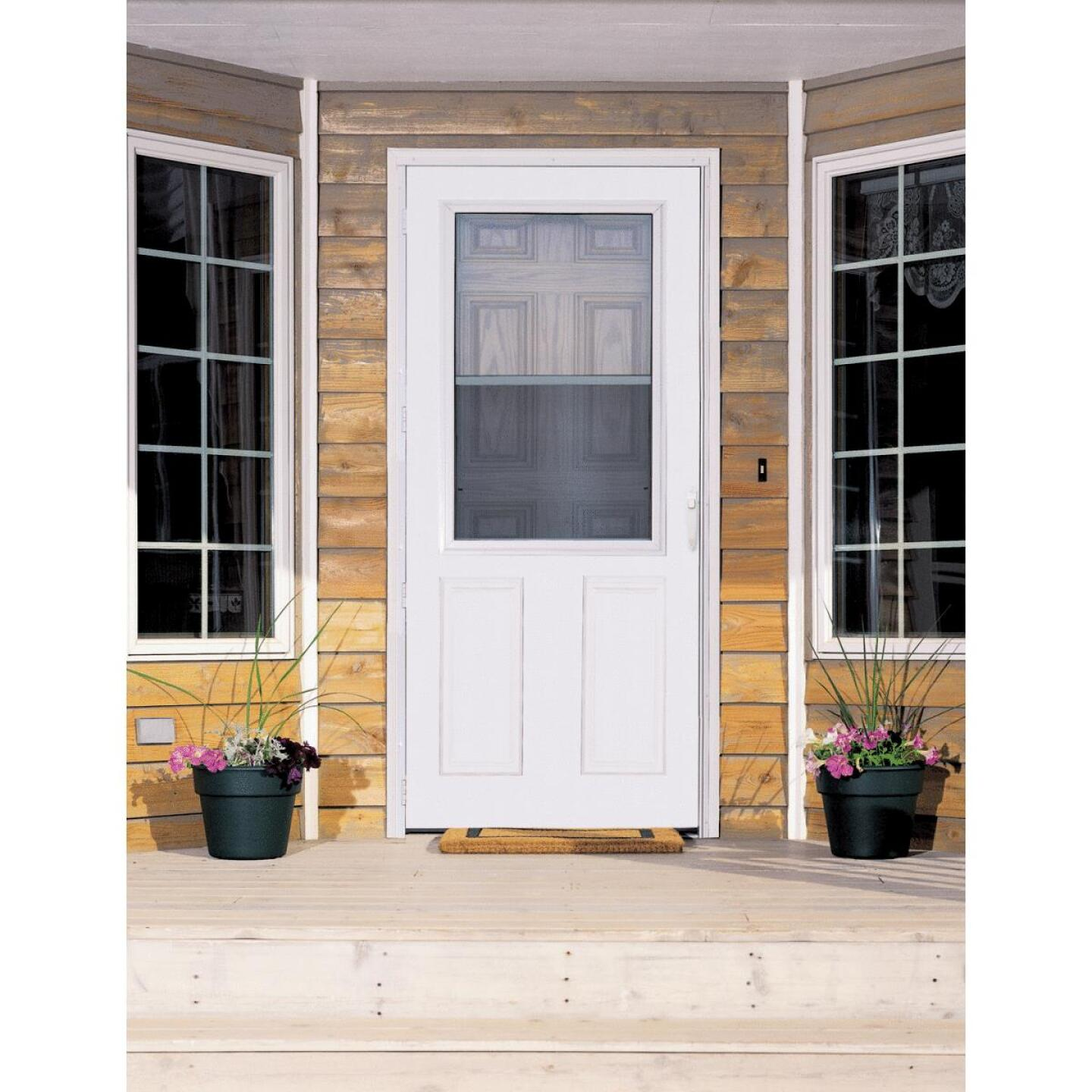 Larson Lifestyle MULTI-VENT 32 In. W x 80 In. H x 1 In. Thick White Mid View 2-Panel DuraTech Storm Door Image 2
