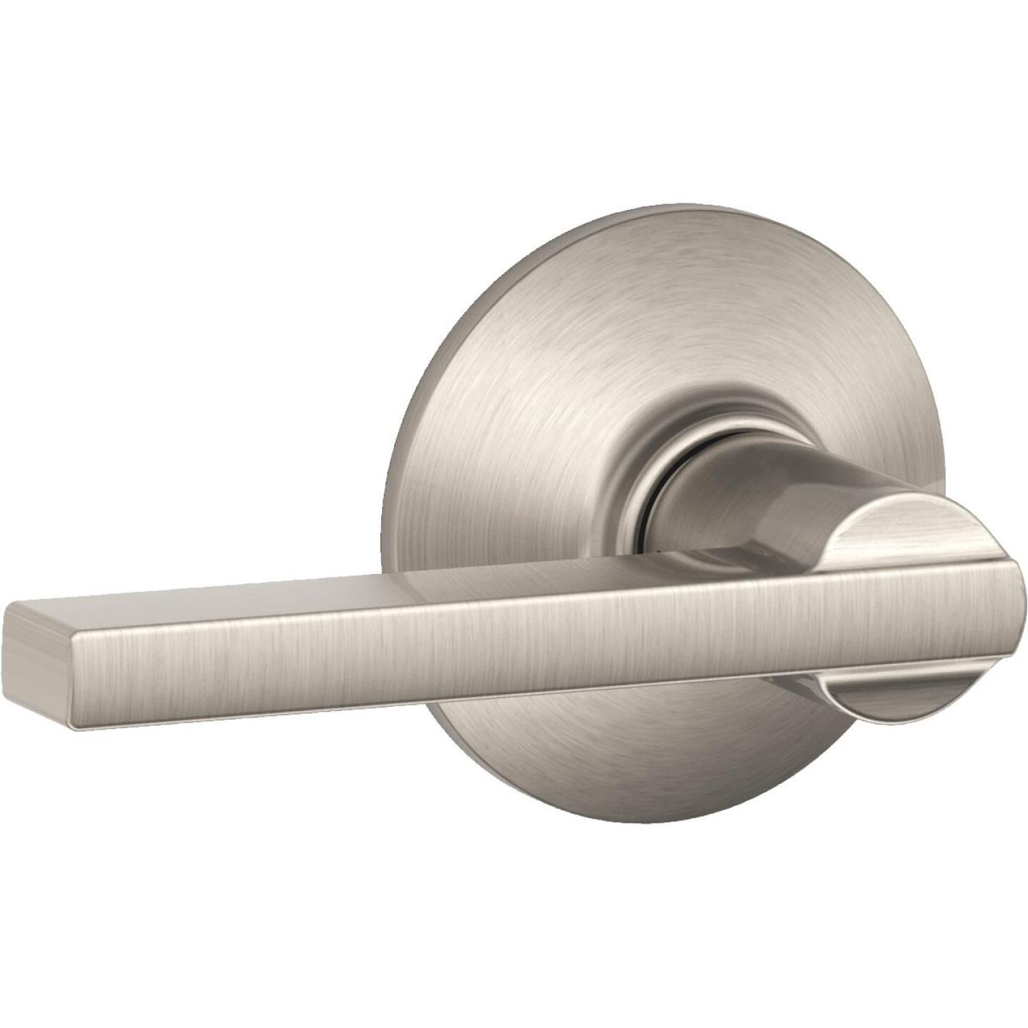 Schlage Latitude Satin Nickel Passage Door Lever Image 1