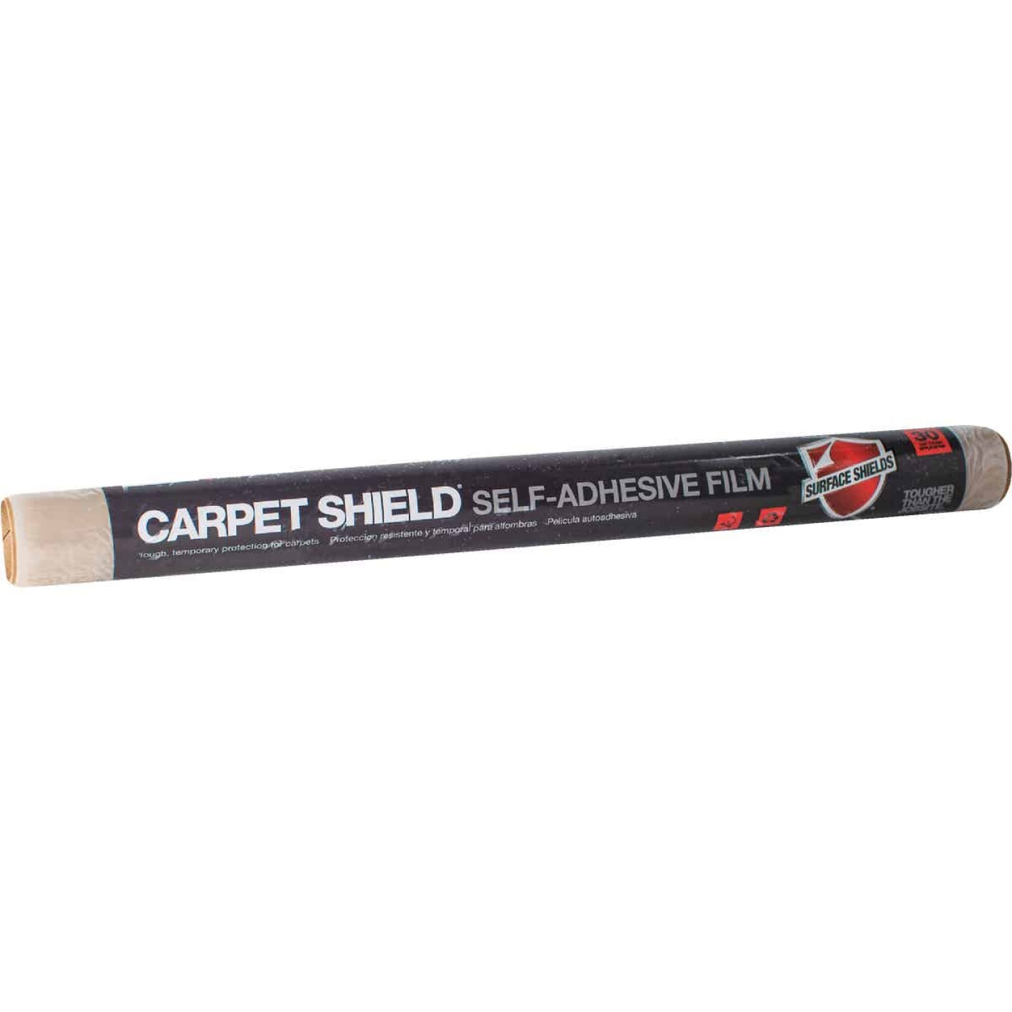 Surface Shields Carpet Shield 24 In. x 50 Ft. Self-Adhesive Film Floor Protector Image 1