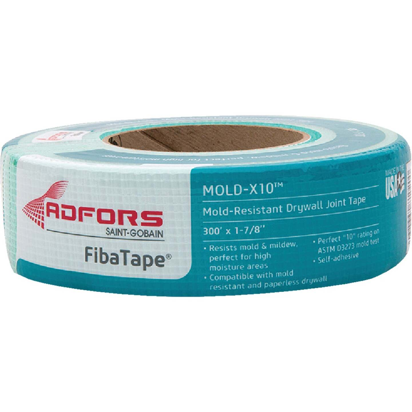 FibaTape Mold-X10 1-7/8 In. X 300 Ft. Mold & Mildew-Resistant Joint Drywall Tape Image 1