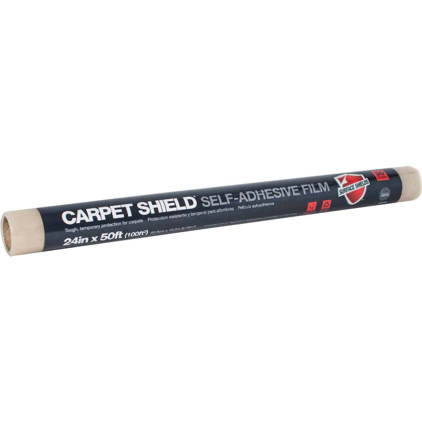 Surface Shields Carpet Shield 21 In. x 30 Ft. Self-Adhesive Film Floor Protector Image 1