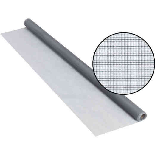 Phifer 30 In. x 84 In. Gray Fiberglass Screen Cloth Ready Rolls