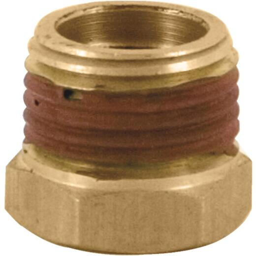 Bostitch 3/8 In. x 1/4 In. NPT Hex Brass Reducer Bushing Adapter
