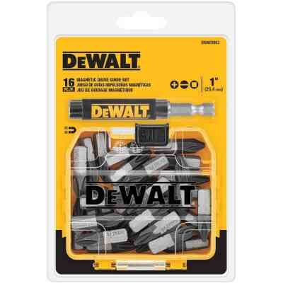 DeWalt 16-Piece Magnetic Drive Guide Screwdriver Bit Set w/ToughCase+