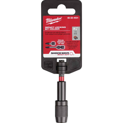 Milwaukee Shockwave 2-7/8 In. Magnetic Impact Locking Bit Holder