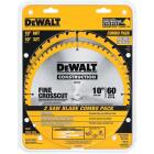 DeWalt Construction 10 In. Assorted Circular Saw Blade Set (2-Pack) Image 1