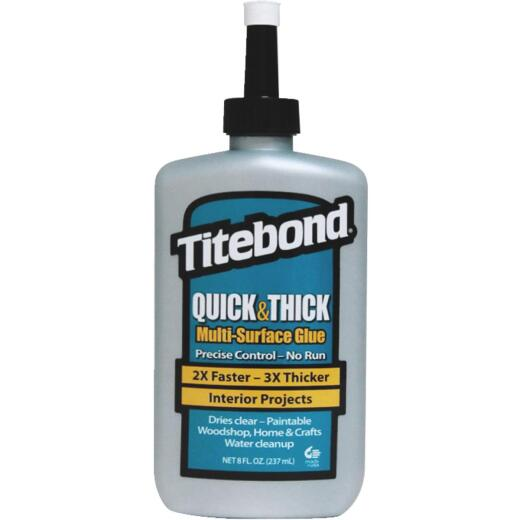 Titebond 8 Oz. Quick & Thick Multi-Surface Wood Glue