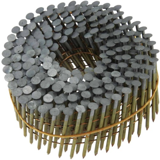 Grip-Rite 15 Degree Wire Weld Bright Ring Coil Framing Nail, 2-3/8 In. x .113 In. (3000 Ct.)
