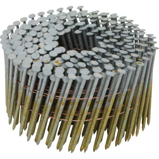 Bostitch 15 Degree Wire Weld Galvanized Coil Framing Nail, 2-1/2 In. x .099 In. (3600 Ct.)