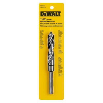 Irwin 11/16 In. Black Oxide Silver & Deming Drill Bit