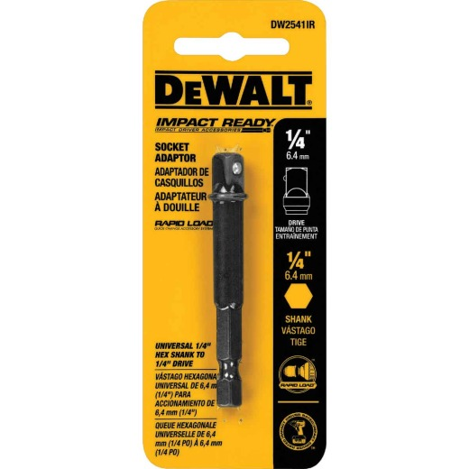 DeWalt 1/4 In. x 2 In. L. Socket Adapter