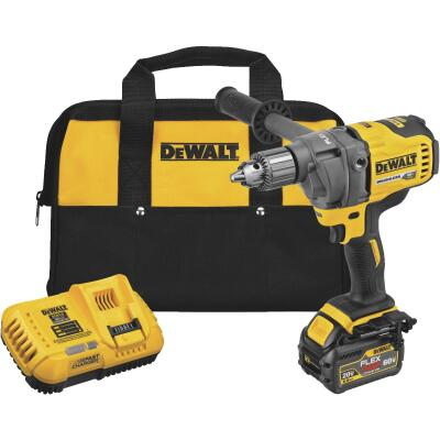 Dewalt 60 Volt MAX Lithium-Ion Brushless 1/2 In. Cordless Drill/Mixer Kit with E-Clutch System