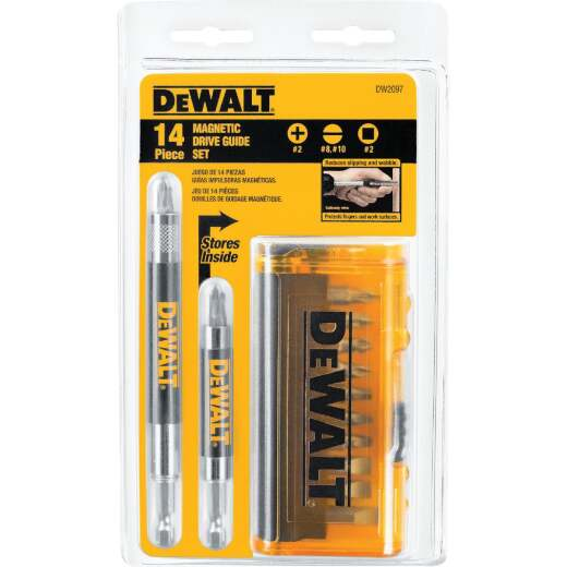 DeWalt 14-Piece Magnetic Drive Guide Screwdriver Bit Set