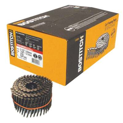 Bostitch 15 Degree Wire Weld Coated Coil Framing Nail, 2-1/2 In. x .120 In. (2700 Ct.)