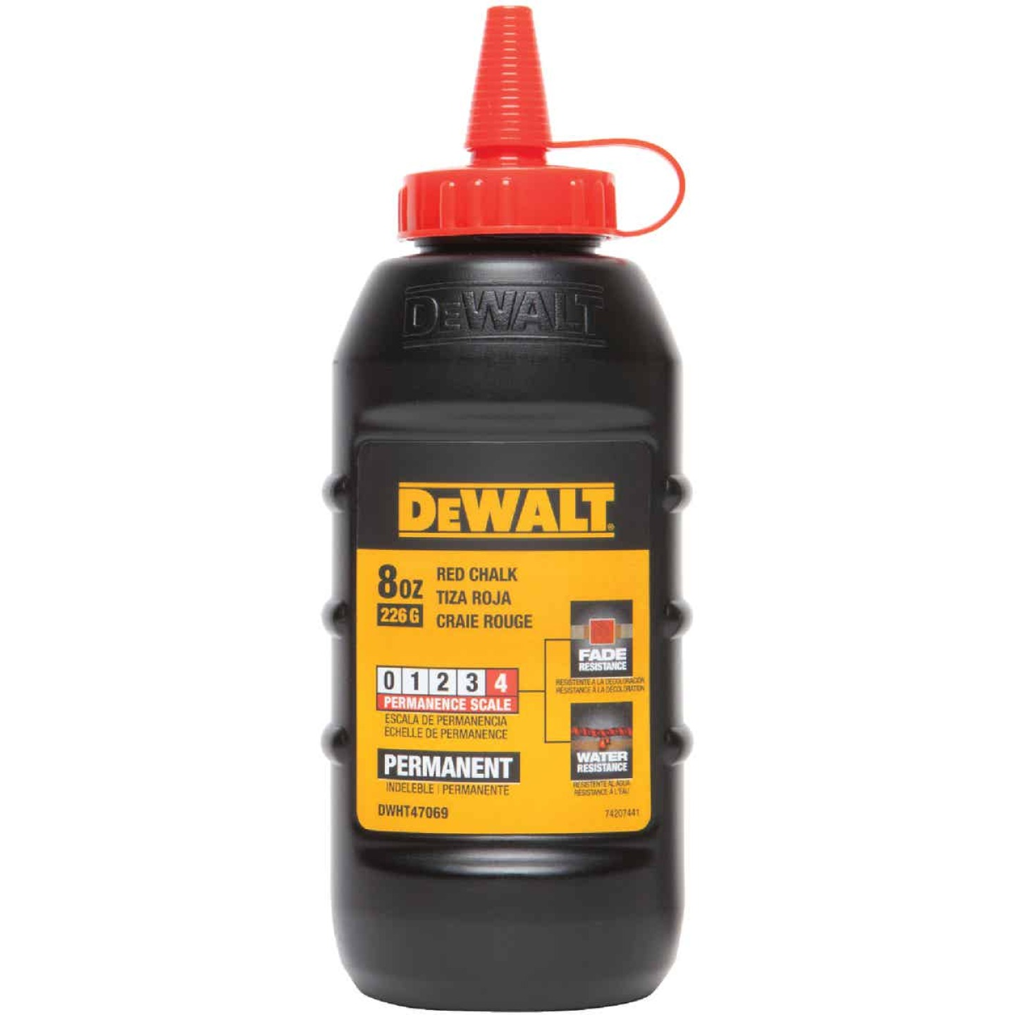DeWalt 8 Oz. Red Permanent Chalk Line Chalk Image 1
