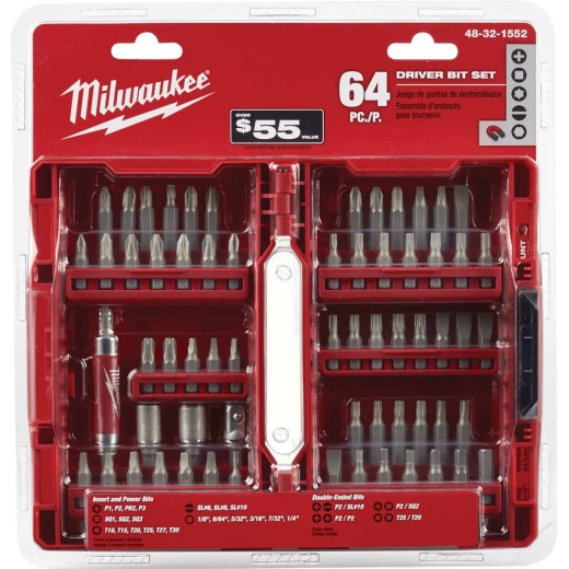 Milwaukee 64-Piece Standard Screwdriver Bit Set