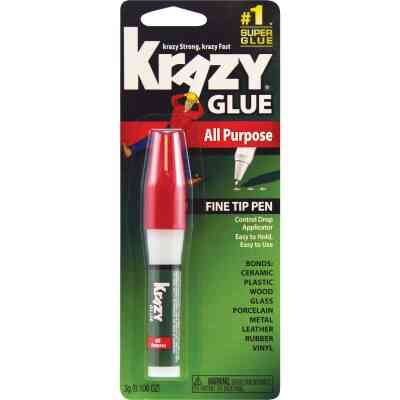 Krazy Glue 0.141 Oz. All-Purpose Pen with Squeeze Applicator
