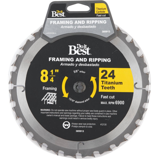 Do it Best Professional 8-1/4 In. 24-Tooth Framing Circular Saw Blade