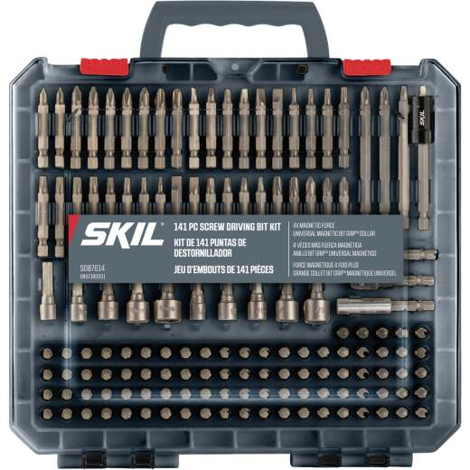 SKIL 141-Piece Screwdriver Bit Set with Bit Grip Magnetic Bit Collar
