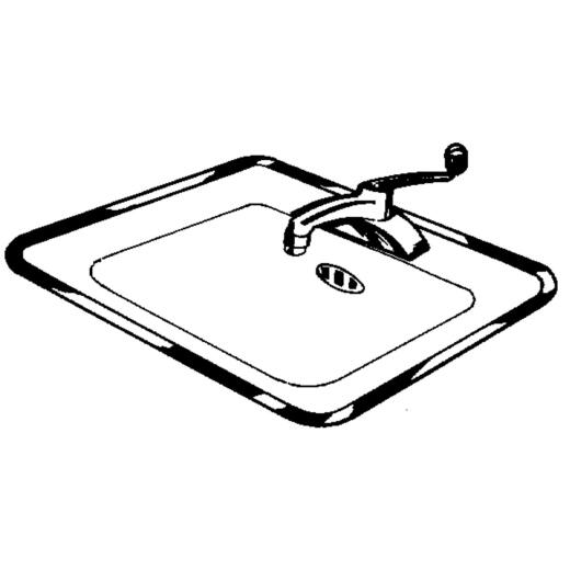 Vance Ardee 32 In. W x 21 In. D Stainless Steel Sink Frame