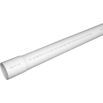 Charlotte Pipe 1-1/4 In. x 20 Ft. Cold Water PVC Pressure Pipe, SDR 26, Belled End