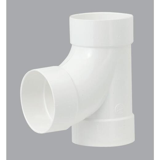 IPEX Canplas Sanitary Tee 6 In. PVC Sewer and Drain Tee