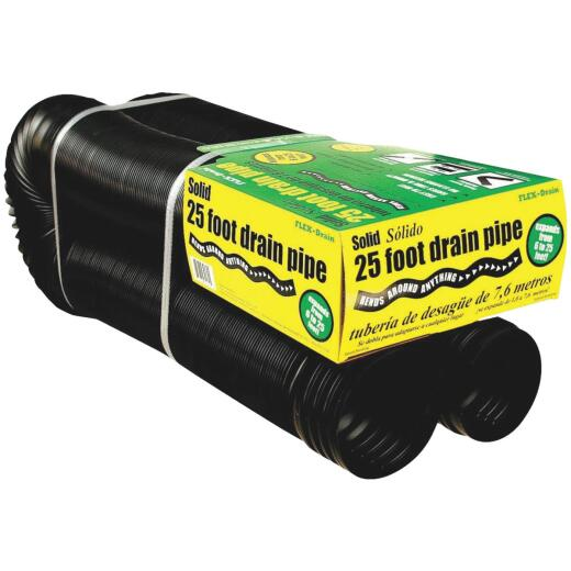 Amerimax 4 In. X 25 Ft. Expandable Solid Drainage Pipe