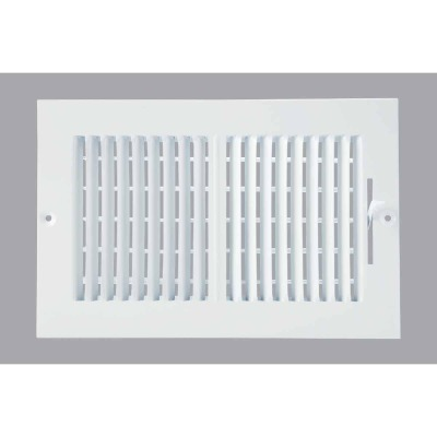 Home Impressions White Steel 7.76 In. Wall Register