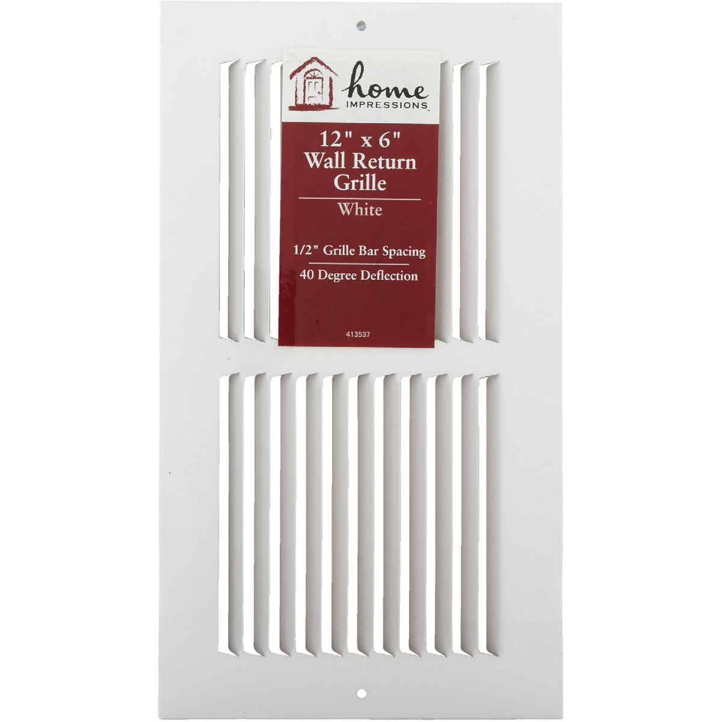 Home Impressions 6 In. x 12 In. Stamped Steel Return Air Grille Image 2
