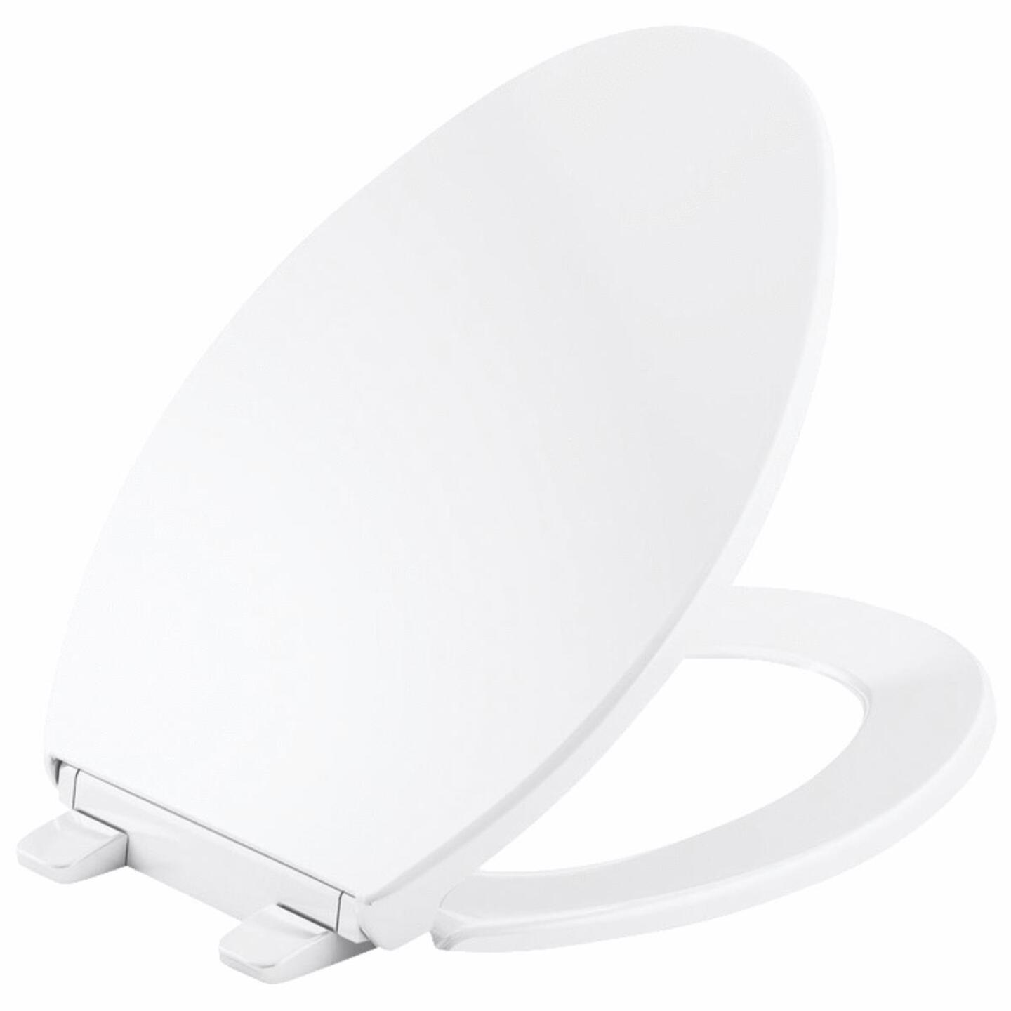 Kohler Brevia Quick-Release Round Closed Front White Plastic Toilet Seat Image 1
