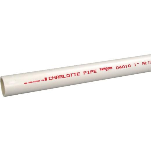 Charlotte Pipe 1 In. x 10 Ft.Cold Water Schedule 40 PVC Pressure Pipe
