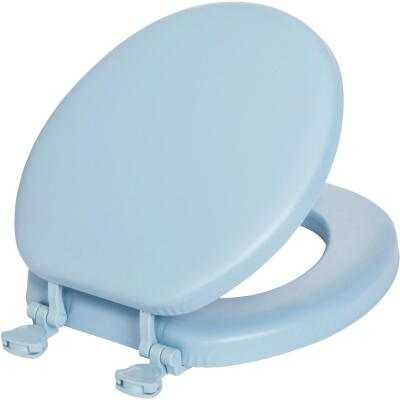 Mayfair Round Closed Front Premium Soft Sky Blue Toilet Seat