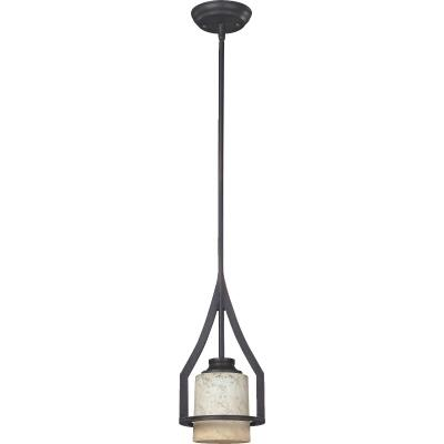 Home Impressions Warren 1-Bulb Rubbed Antique Bronze Incandescent Mini Pendant Light Fixture