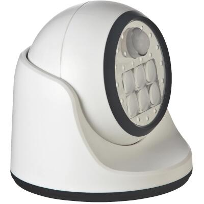 Light It White 100 Lm. LED Battery Operated Security Light Fixture