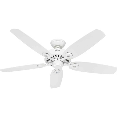 Hunter Builder Elite 52 In. White Ceiling Fan