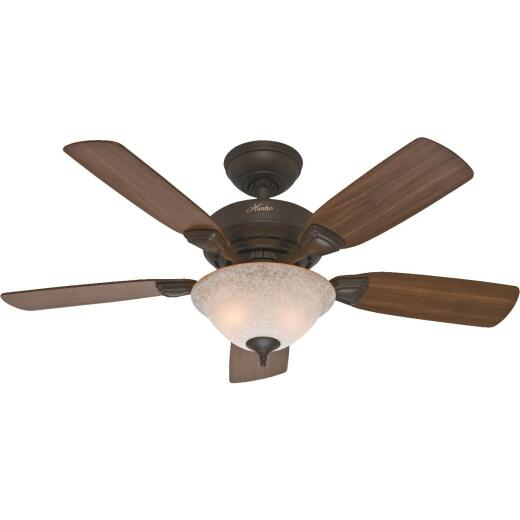 Hunter Caraway 44 In. New Bronze Ceiling Fan with Light Kit