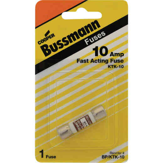 Bussmann 10A Limitron KTK Cartridge Heavy-Duty Cartridge Fuse